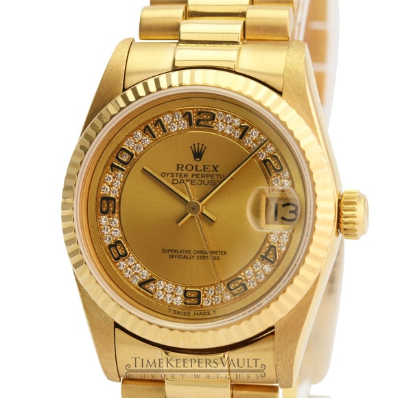 Rolex Accessories - Rolex Lady Datejust 68278 18k Yellow Gold Factory